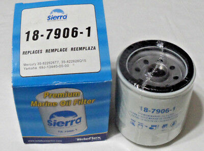 Sierra Boat Marine Replacement Outboard Oil Filter 18-7906-1  Mercury Yamaha