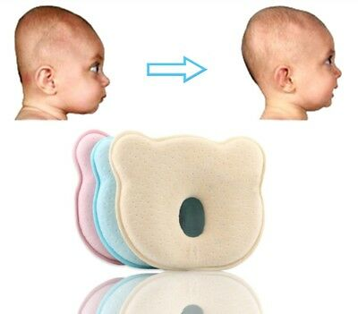 Baby Pillow Preventing Protector Birth Flat Head Syndrome your Newborn Bab New
