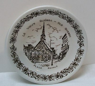 English Ironstone Old Quebec Place Royale Small Plate Wood & Sons England