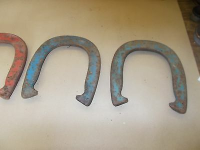Vtg Original Double Ringer 2 1/2 lb Drop Forged Diamond Duluth USA Horse Shoes