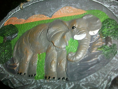 Gray African  ELEPHANT WALL HANGING PLAQUE