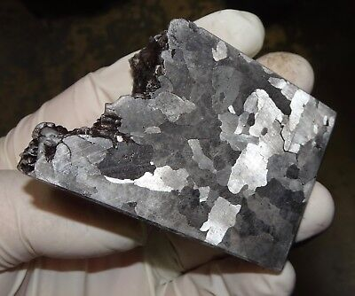 Beautiful 500 Gm. Etched Campo Del Cielo Meteorite Cube
