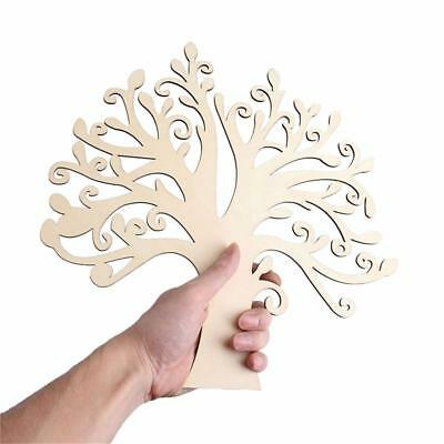 Autumn Hollow Tree Shape MDF Cut Wooden Craft Blank Family Tree Decoupage~