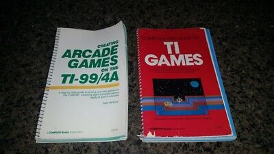 Pair of Vintage EARLY 80s TI Computer Games books ARCADE Video Games