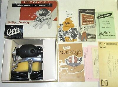 1957 Oster STIM-U-LAX Junior Model M-4 Standard Massage Instrument