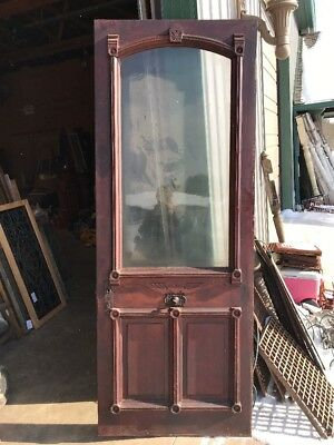 An 426 Antique Victorian Entrance Door 33.75 X 88.75 X 1.6