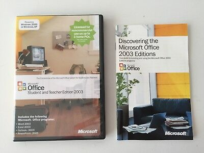 Microsoft Office 2003 Student and Teacher Edition with Product Key & User Guide