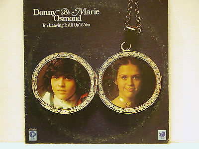 Donny And Marie Osmond I'm Leaving It All Up To You - Rare Lp - Free Shipping!!