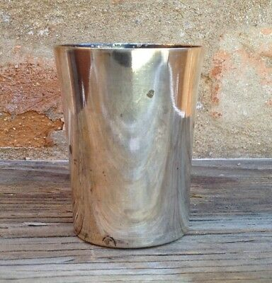 """Antique Silverplate 3.25"""" Cup Benedict Indestructo Vintage Mint Julep"""