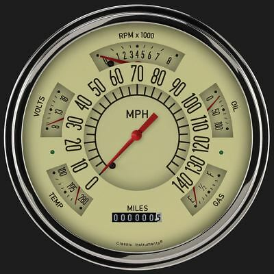 Tan 1949-50 Chevy ClassicLineGauge - Classic Instruments - CH49T