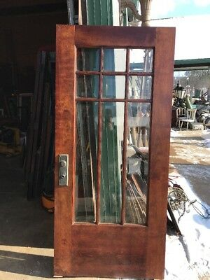 An 434Antique Arts And Crafts Beveled Entrance Door 36 X 79.25
