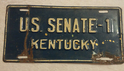 Kentucky U. S. Senate Senator 1 License Plate  **** One Of A Pair ****