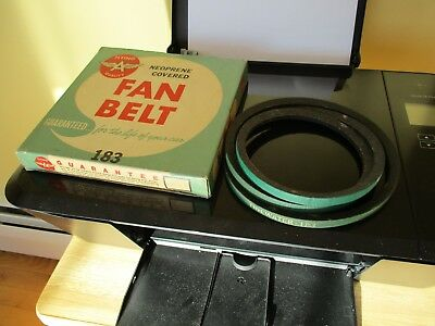 Nos 1950's Flying A Tidewater Advertising Box With Green Fan Belt Ply.1955-56