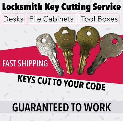 Snap On J series  Tool Box Keys Pre-Cut To Your Key Code Codes