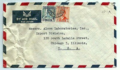 IRAQ Old Envelope Letter Cover 1955 King Faisal II to Chicago , Illinois U.S.A