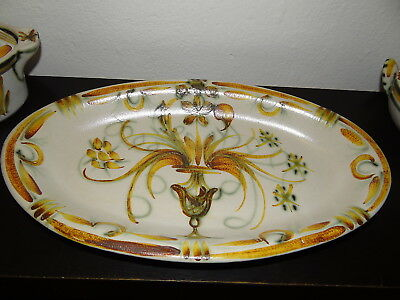 Grand Plat Ovale Quimper Keraluc Dispersion Service Vintage 1970 16