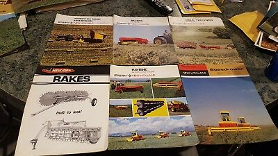 6 New Holland Dealers Brochures Balers 273 Bale Thrower 70 mower Speedrower