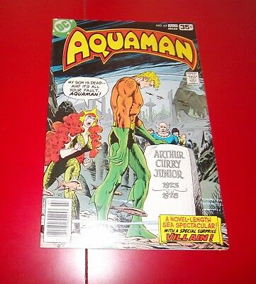 Aquaman #62 Wall Came Tumblin' Down! W/ Mera  Bronze Age - 1978 Great Cond