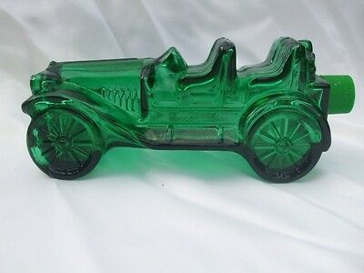 """Vintage Men's Cologne Avon Green Car Glass Bottle Wild Country Aftershave 7"""""""