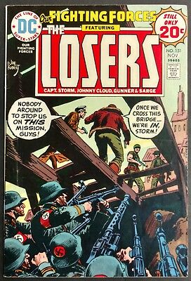 Our Fighting Forces #151 1974 Sharp Fn+ The Losers Kirby  Kubert Cover