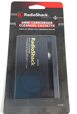 Radio Shack 8mm camcorder cleaning cassette with professional hyperbrush care