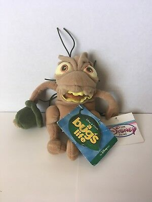 "Disney Store Pixar A BUG'S LIFE 8"" P.T Flea Mini Bean Bag Plush w/ Tags"