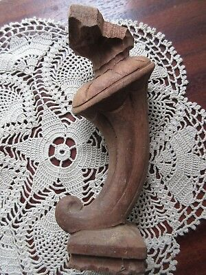 Antique Hand Carved Wood Furniture Salvage Shelf Support Column Leg Ornate Piece