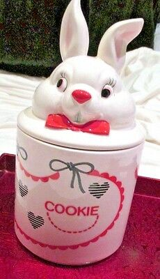 Cookie Jar Fred Roberts Co. Bunny Rabbit 12 Tall NOS Vintage #E5