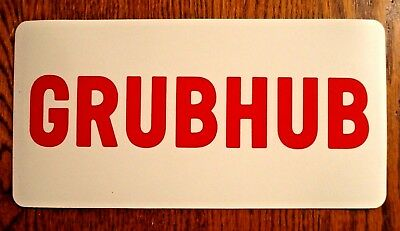 "1 GRUBHUB  100% Magnetic CAR VEHICLE SIGN  6"" x 12"" FREE SHIPPING! Food Delivery"