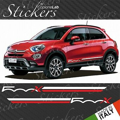 Strisce adesive fiancate laterali Fiat 500x fasce 500 x two colors