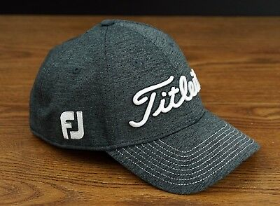 Titleist Golf Players Deep Back Lightweight Fitted Hat Cap Gray White L XL  NEW a2f1b7c0b13