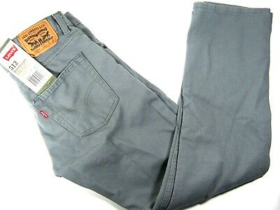Levi's Youth/Kids Unisex 513 Slim Straight Pants SIze16 (28x28) Gray Jeans NWT