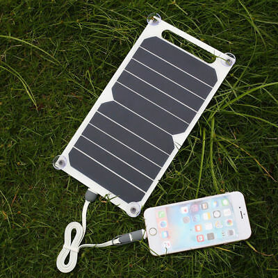 10W 5V Solar Power Charging Panel USB Charger Smart Mobile Phone Pad BSG