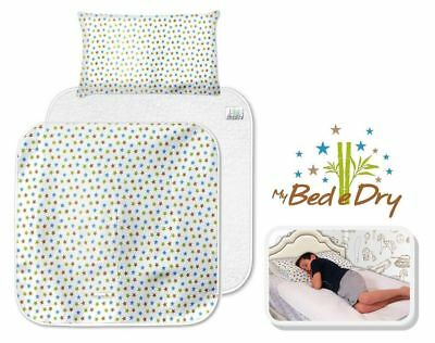 NEW My Bed e Dry - LARGE Eco-Friendly Waterproof Bed Pad Set,Reusable Bedwetting