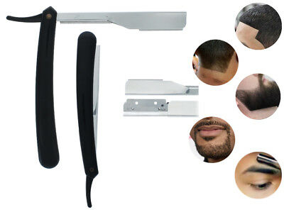 "Straight Edge Razor Steel Folding Shaving Salon Handle Knife Barber Beard 6"" NEW"
