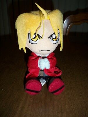 Full Metal Alchemist 7'' Ed Edward Elric Plush figure sitiing pose