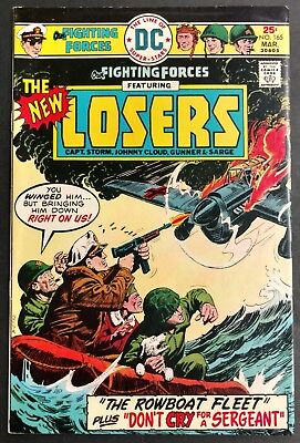 Our Fighting Forces #165 1976 Sharp Fn/vf The New Losers Dominguez  Cover