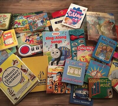 Lot Of 33 Toddler Preschool Books Bible Religious Train Sounds Books