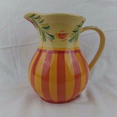 Southern Living At Home Serving Pitcher By Gail Pittman Siena Orange Striped