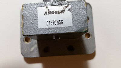 waveguide transition, 5.8 to 8.2 Ghz.  N Female to 137 waveguide.