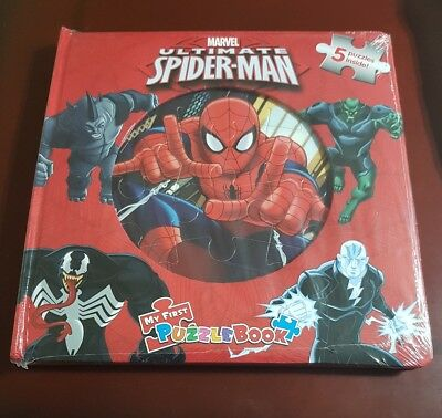 Marvel Ultimate Spider-Man My First Puzzlebook. 5 Puzzles. Brand New Sealed