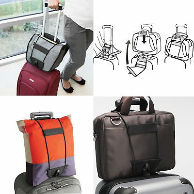 2PCS Add A Bag Strap Luggage Suitcase Adjustable Belt Carry On Bungee For Travel