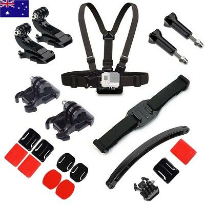 7 in 1 Accessory Kits Head Strap Helmet Mount for GoPro Hero 6 5 4 Sports Camera