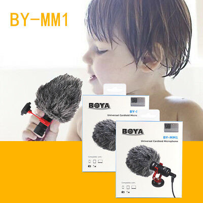 BOYA BY-MM1 Video Mic Microphone Condensor For iPhone Smartphone Camcorder NM