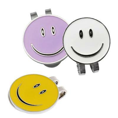 3Pcs Happy Face Golf Ball Markers with Magnetic Hat Clip Golf Accessories