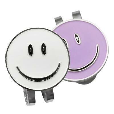 2 Sets of Cute Smile Face Golf Ball Markers with Magnetic Golf Hat Clip