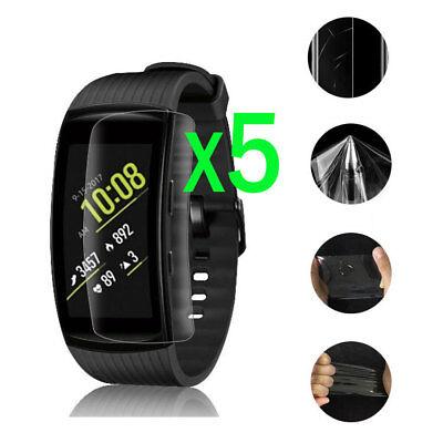 5Pcs Full Cover Screen Protector Film For Samsung Gear Fit2 Pro Smart Bracelet
