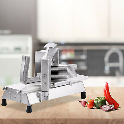 4.8Mm Tomato Slicer Cutter Aluminum Frame Pushing Block Built-In Cutting Board