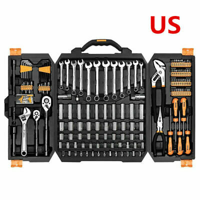 DEKO 192 PCS Hand Tool Tool Set Socket Wrench Set Auto Repair Kit Wrench