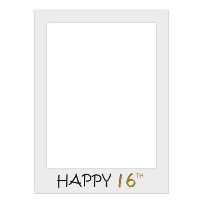 1 Piece Selfie Cardboard Photo Frame Party Props Birthday 16/18/21/25/30/40/50